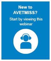 New to AVETMISS webinar