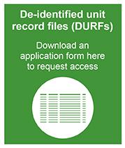 De-identified unit record files (DURFs)