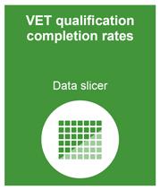 VET qualification completion rates data slicer