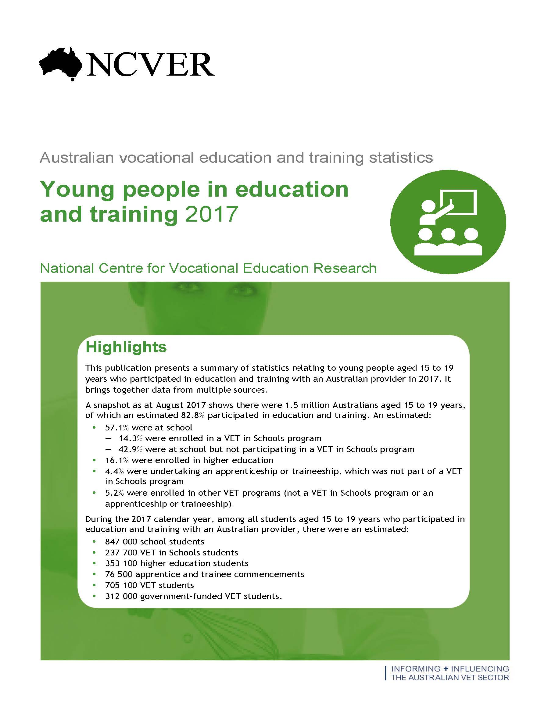 Young people in education and training 2017