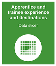 Apprentice and trainee experience and destinations data slicer