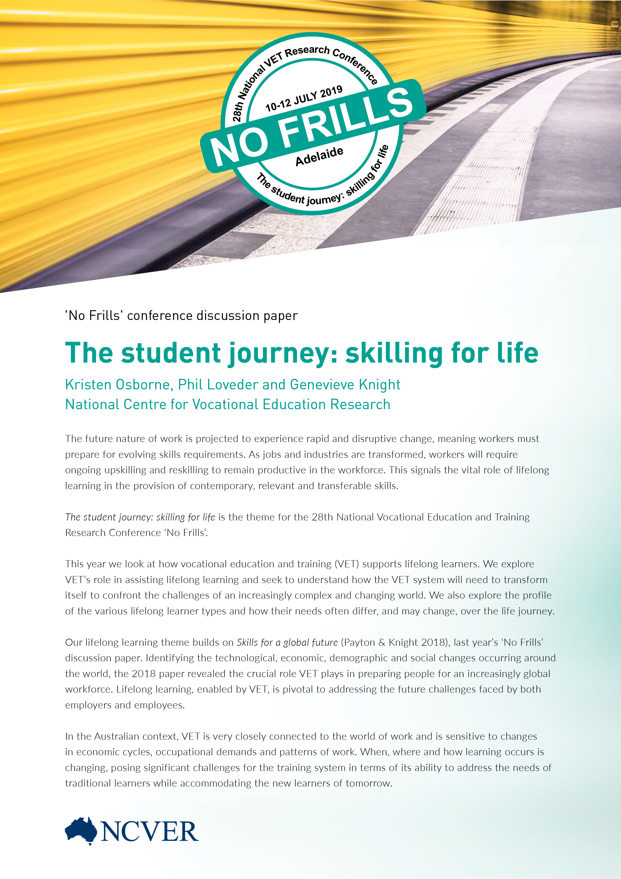 The student journey: skilling for life