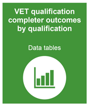 VET qualification completer outcomes by qualification data tables